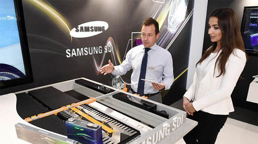 Samsung debuts new car battery technology