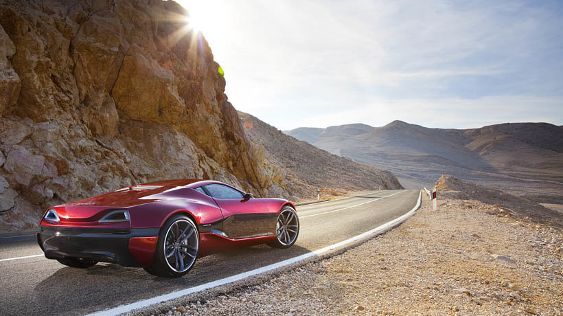 Rimac's supercar on the road